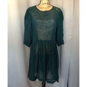 ASOS Emerald Green Sheer Dress
